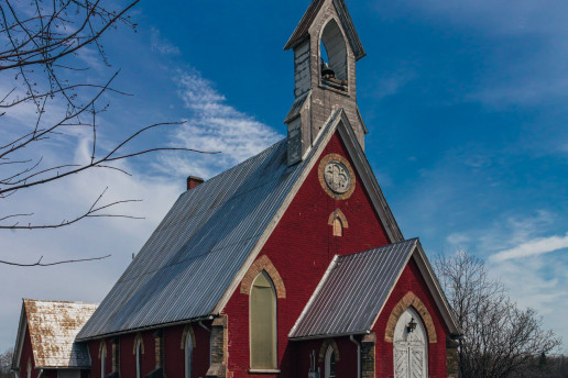 Abandoned St. Anne's Anglican Church - Photo by Shawn M. Kent