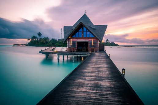 Dhigufaru Island Pier - Photo by Giuseppe Milo