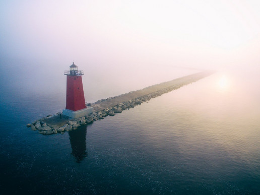 Manistique East Breakwater Lighthouse - Photo by Aaron Burden