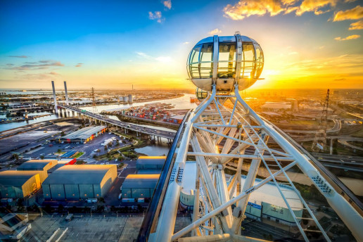 Melbourne Star Observation Wheel - Photo by Russell Charters