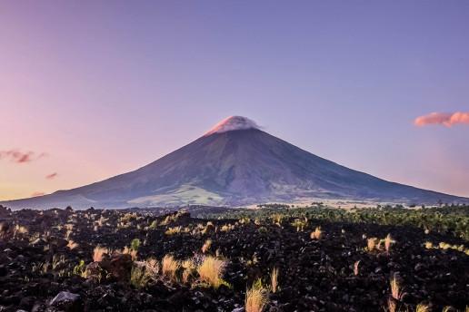 Mount Mayon Lava Wall - Photo by Cris Tagupa