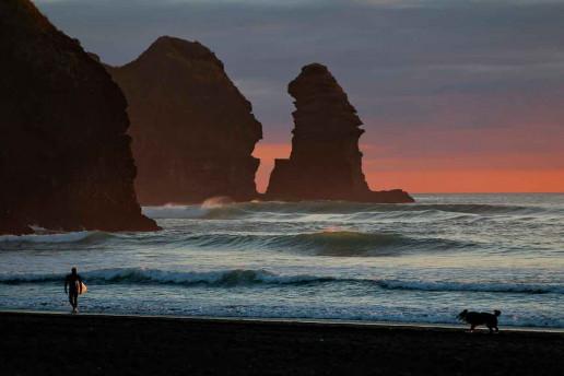 Piha Beach - Photo by Bill Fairs