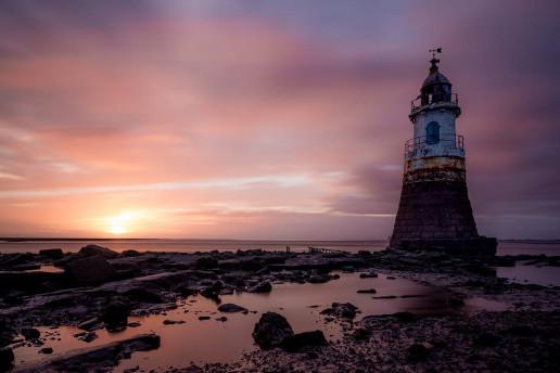 Plover Scar Lighthouse - Photo by Joe Hayhurst