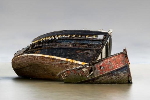 Pin Mill Abandoned Boats by DCShutterProductions