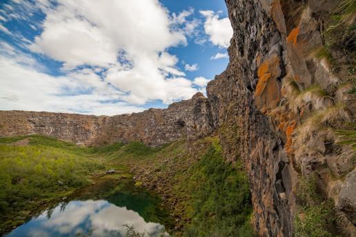Ásbyrgi Canyon by Dag Endre Opedal
