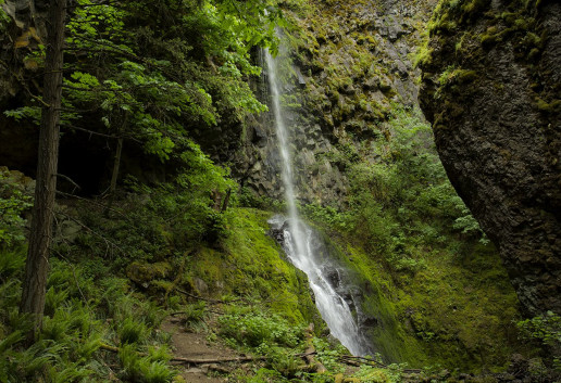 Cabin Creek Falls by Bonnie Moreland