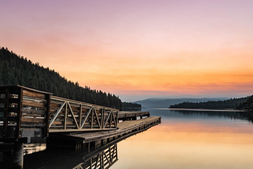 Emerald Bay Dock by Tyler Clemmensen