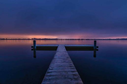 Greifensee Dock by Robert Hrovat