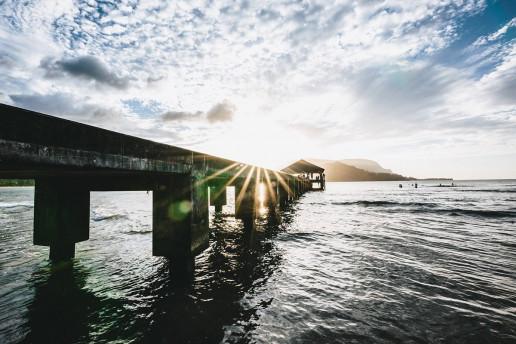 Hanalei Pier by Ashley Grems