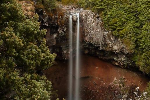 Mangawhero Falls by Jamie Pedersen