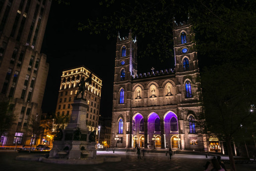 Place d'Armes and Notre-Dame Basilica of Montreal - Photo by Shawn M. Kent