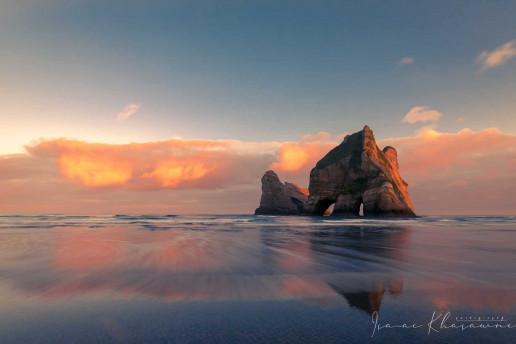 Wharariki Beach by Isaac Khasawneh