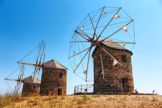 Windmills in Patmos by Lorenzo Spoleti